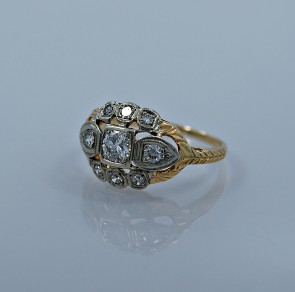 24-ct-diamond-yellow-white-gold-art-deco-engagement-ring