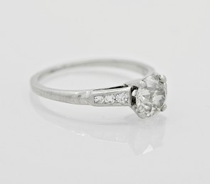 Platinum-Art-Deco-Diamond-European-Engagement-Ring