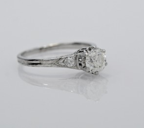 Ring-18K-White-Gold-Diamond-Art-Deco