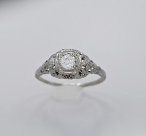 Diamond-18K-White-Gold-Ring-Art-Deco
