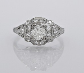 Diamond-Art-Deco-Platinum-Ring-J34746
