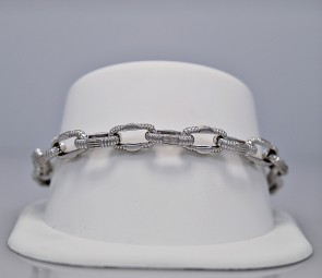 estate-diamond-gold-link-bracelet
