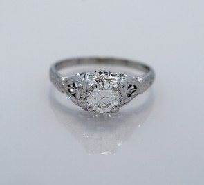 Art-Deco-Platinum-Ring-Diamond-Engagement