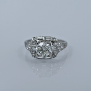 115-ct-diamond-platinum-art-deco-engagement-ring-head-on
