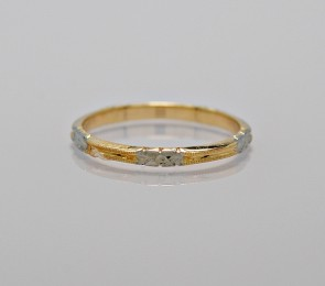 Vintage-Wedding-Band-14k-Yellow-White-Gold