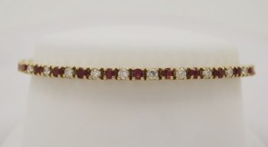 Ruby-Diamond-Estate-14K-Yellow-Gold-Bracelet
