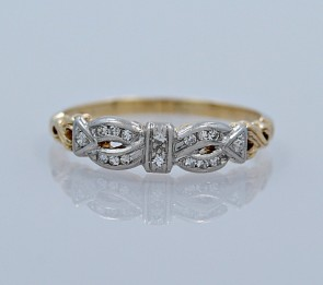 Platinum-Diamond-Yellow-Gold-Band-Art-Deco