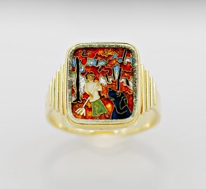 Enamel-18K-Yellow-Gold-Ring