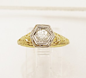 Platinum-14K-Yellow-Gold-Diamond-Edwardian-Ring