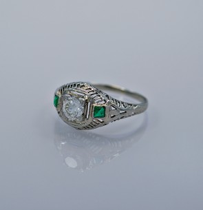 .43ct-antique-emerald-diamond-ring-J34381