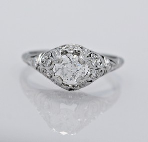 Diamond-Platinum-Engagement-Ring-Art-Deco
