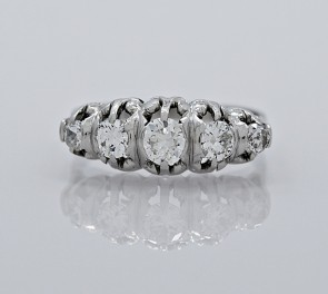 Platinum-Diamond-Art-Deco-Wedding-Band