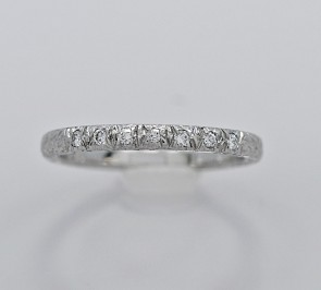 Anniversary Band .06ct. T.W. Diamond Art Deco
