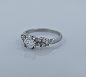 70-ct-diamond-platinum-vintage-engagement-ring