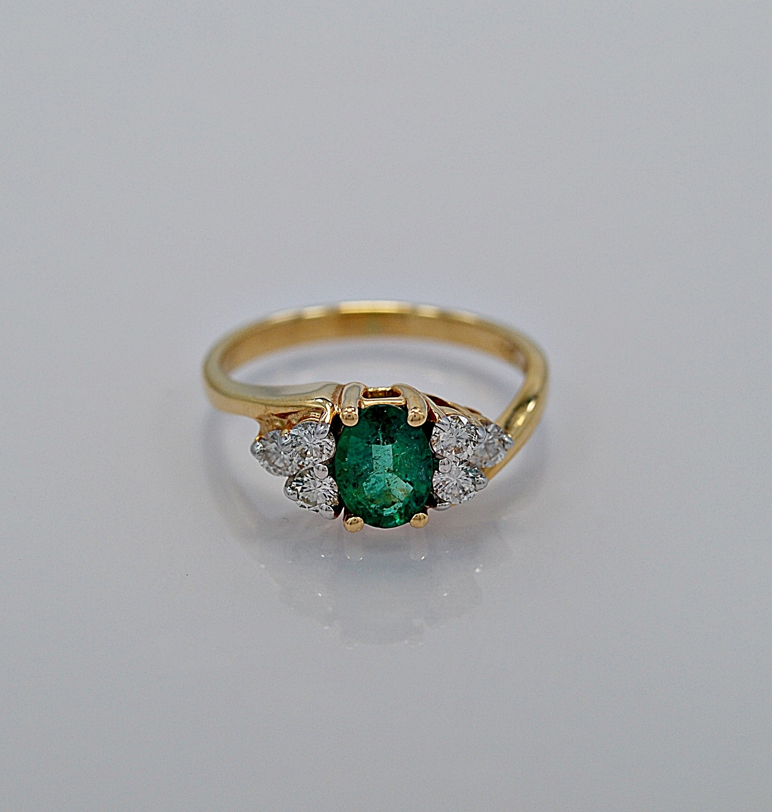 gallery for gt emerald gold engagement ring