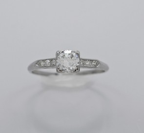 Platinum .48ct. Diamond Engagement Ring