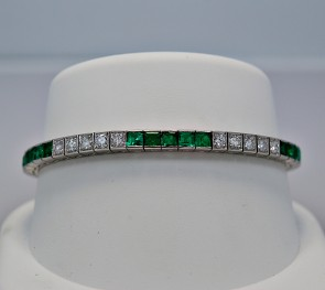 vintage-emerald-diamond-straight-bracelet