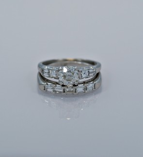 90-ct-diamond-platinum-art-deco-engagement-ring-set