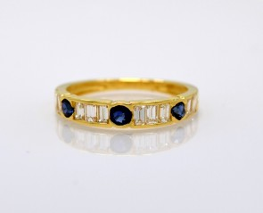 Sapphire-Diamond-Band-18K-Yellow-Gold-Estate