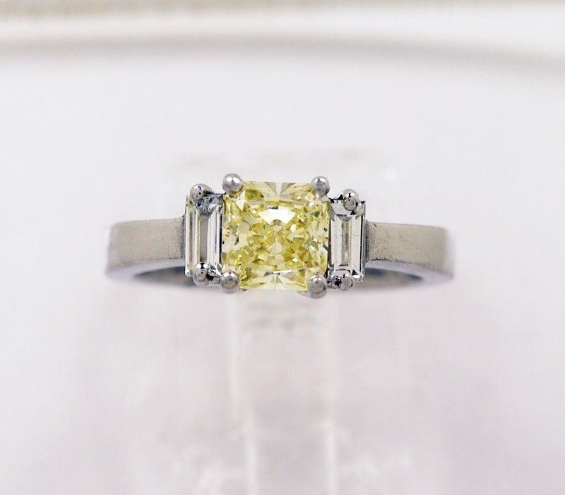 Fancy-Yellow-Diamond-Estate-Platinum-Ring