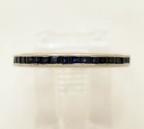 Estate Sapphire & Platinum Eternity Band