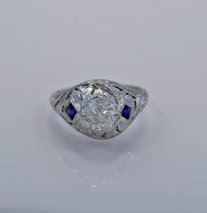 85ct-diamond-sapphire-gold-art-deco-engagement-ring