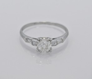 Art-Deco-Platinum-Diamond-Ring-Engagement