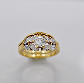 Estate Diamond Engagement Ring Set .60ct. Diamond & 18K Gold