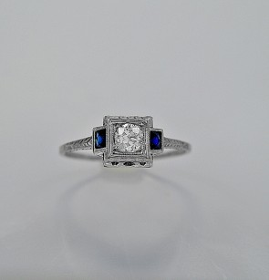 art-deco-diamond-sapphire-20k-gold-60ct-engagement-ring