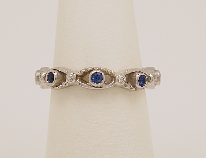 Eternity Band .30ct. T.W. Sapphire, 18K White Gold & Sapphire