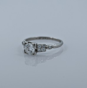 .65ct. Diamond & Platinum Art Deco Engagement Ring