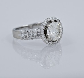 Engagement-Ring-18K-White-Gold-Estate-Diamond