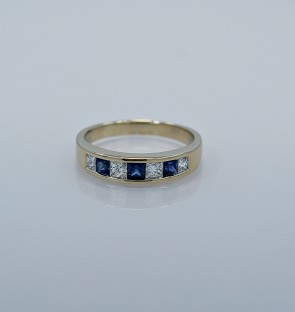 band-gold-estate-diamond-sapphire-head