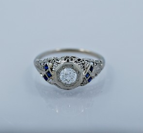 43-ct-diamond-sapphire-white-gold-art-deco-engagement-ring