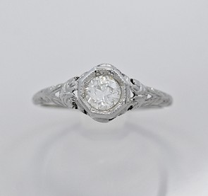 Art-Nouveau-Diamond-Platinum-Ring