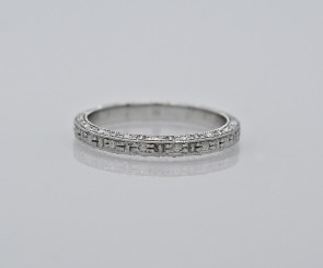 Platinum-18K-White-Gold-Eternity-Band-Art-Deco