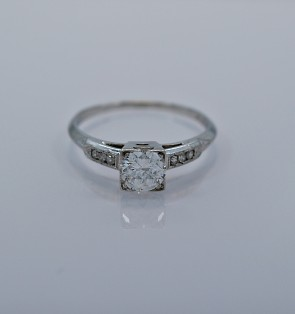 Vintage Engagement Ring .50ct. Diamond & Platinum