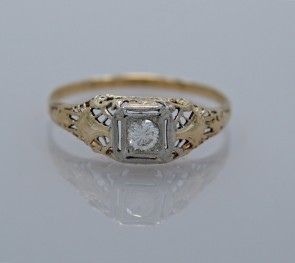 Yellow-Gold-White-Art-Deco-Diamond-Ring