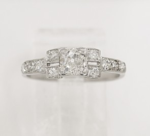.58ct. Diamond & Platinum Art Deco Engagement Ring