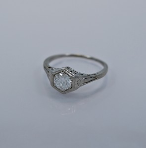 .45ct. Diamond & Platinum Art Deco Engagement Ring