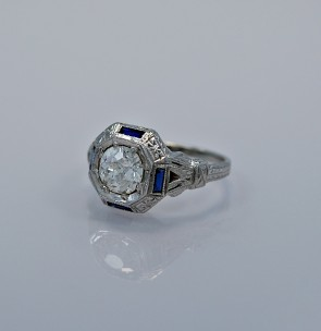 107-ct-diamond-sapphire-platinum-art-deco-engagement-ring