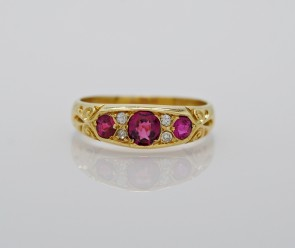 Ruby-Diamond-Edwardian-Wedding-Band
