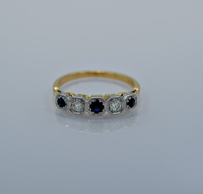 art-deco-015ct-diamond-sapphire-engagement-ring