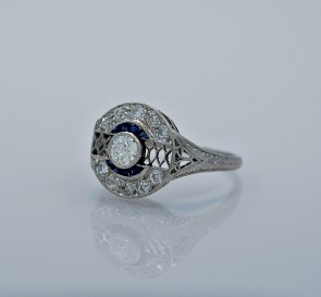 25ct-artdeco-sapphire-diamond-platinum-engagement-ring