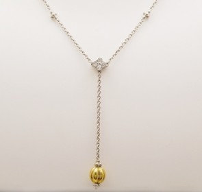 Necklace-Diamond-18K-Yellow-White-Gold