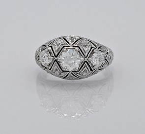 Diamond-Art-Deco-18K-White-Gold-Ring