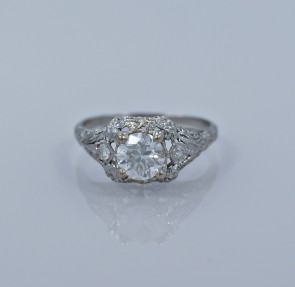 80ct-art-deco-diamond-engagement-head-on