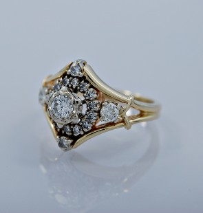 estate-diamond-gold-fashion-ring