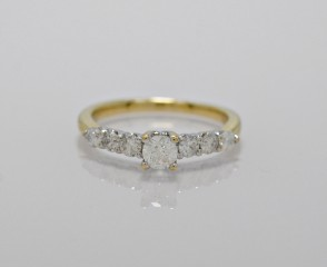 14K-Yellow-White-Gold-Engagement-Ring-Diamond-Vintage