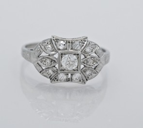Ring-Platinum-Diamond-Art-Deco-Engagement
